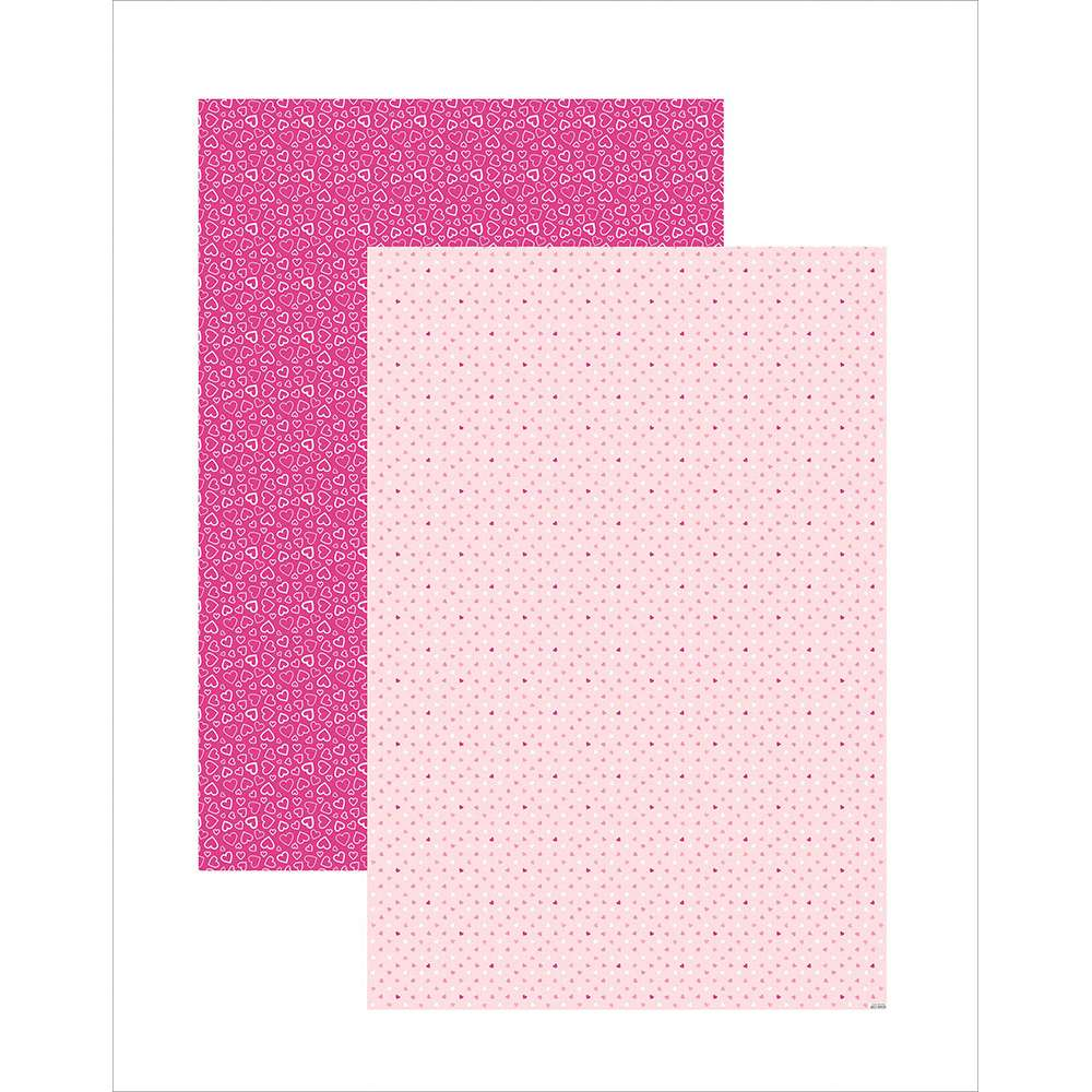 PAPEL PLUS MULTITONS CORAÇÕES ROSA 64X94CM (BY FLAVIA TERZI)