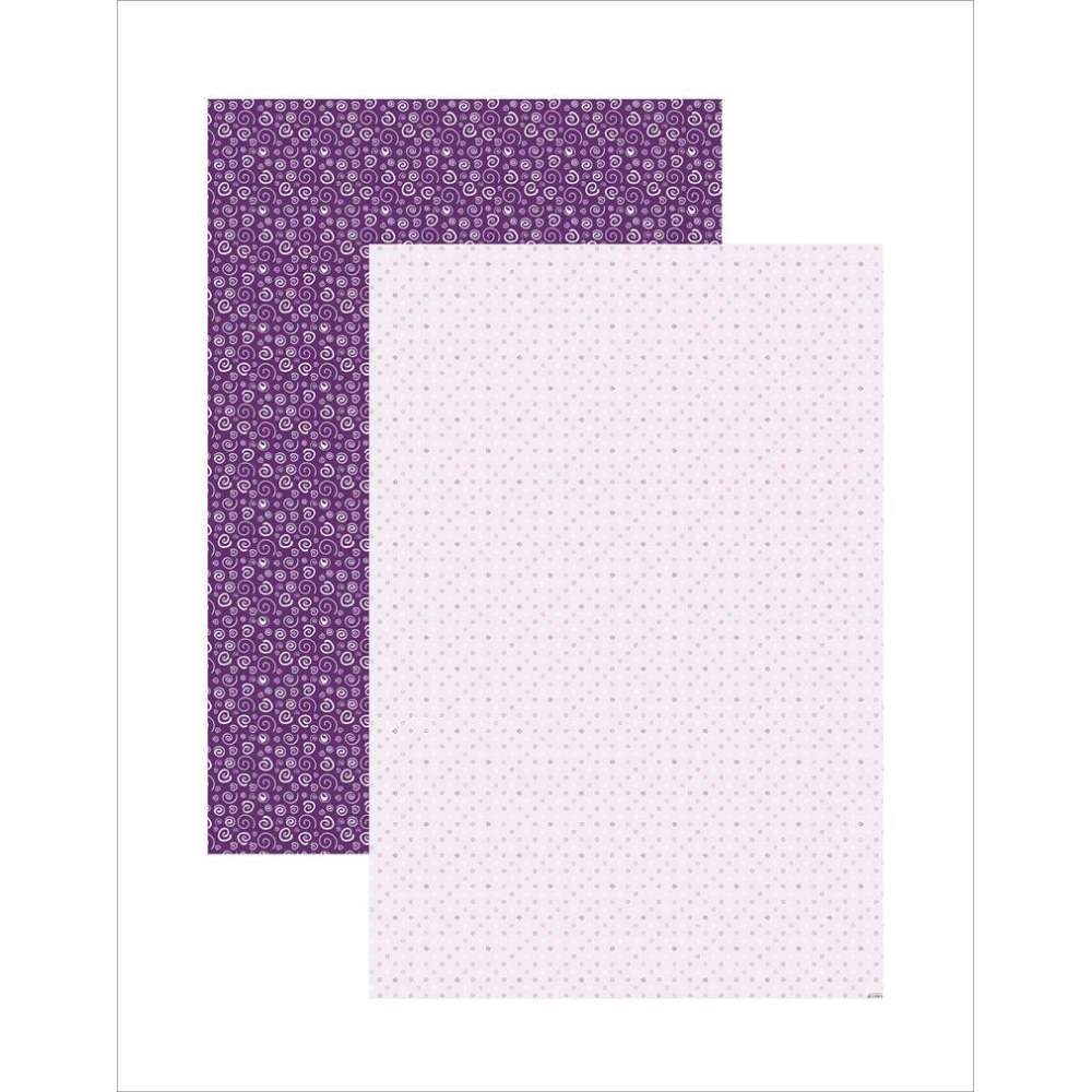 PAPEL PLUS MULTITONS ESPIRAIS LILAS 64X94CM (BY FLAVIA TERZI)