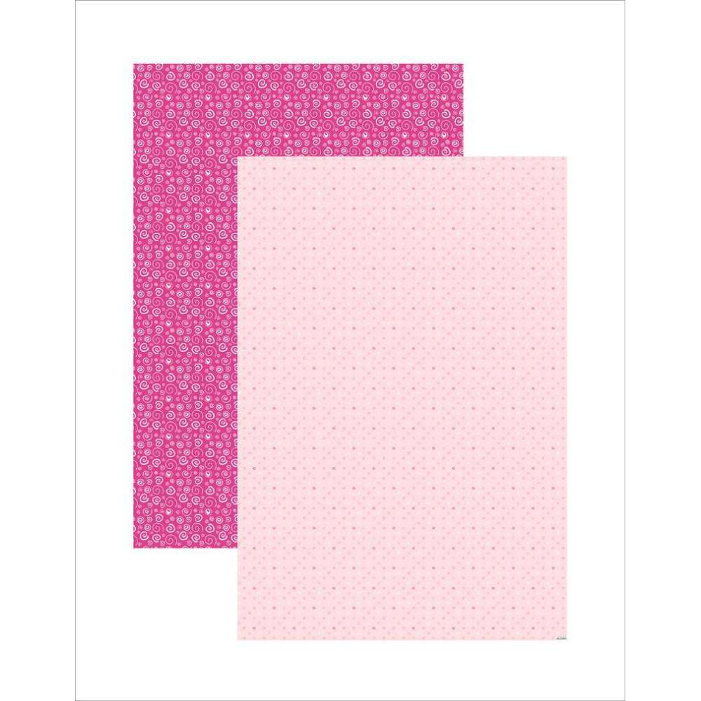 PAPEL PLUS MULTITONS ESPIRAIS ROSA 64X94CM (BY FLAVIA TERZI)