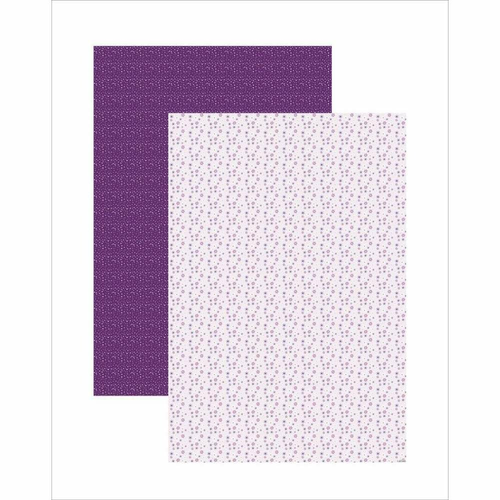 PAPEL PLUS MULTITONS FLORAL LILAS 64X94CM (BY VLADY)