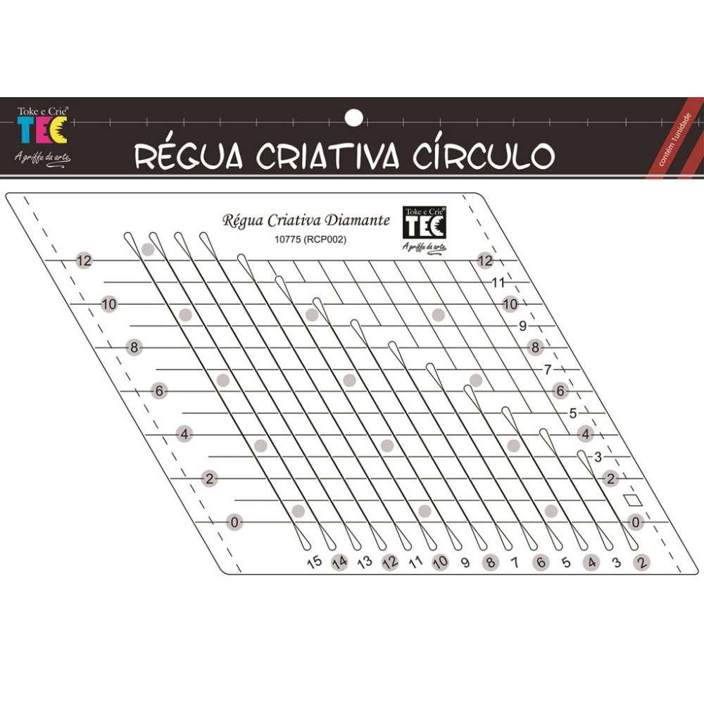 Regua Criativa Diamante 12x15 Cm