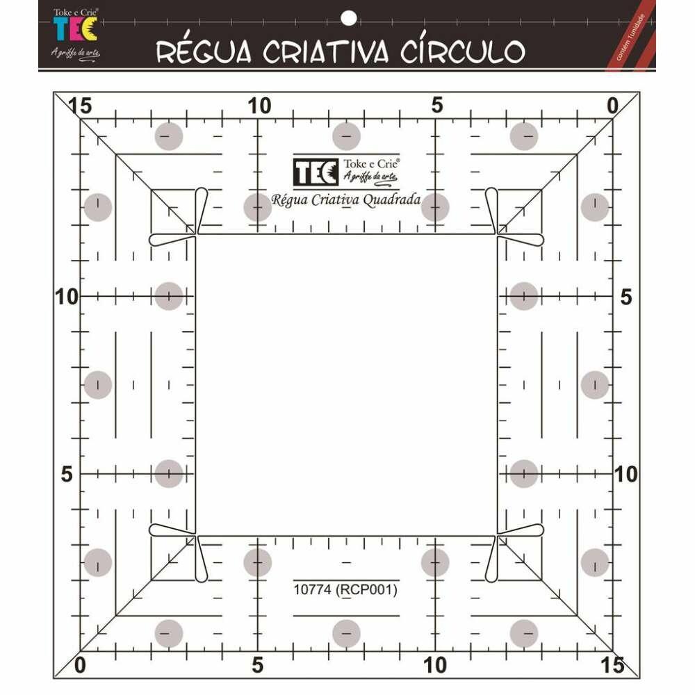 REGUA CRIATIVA QUADRADA 15X15 CM