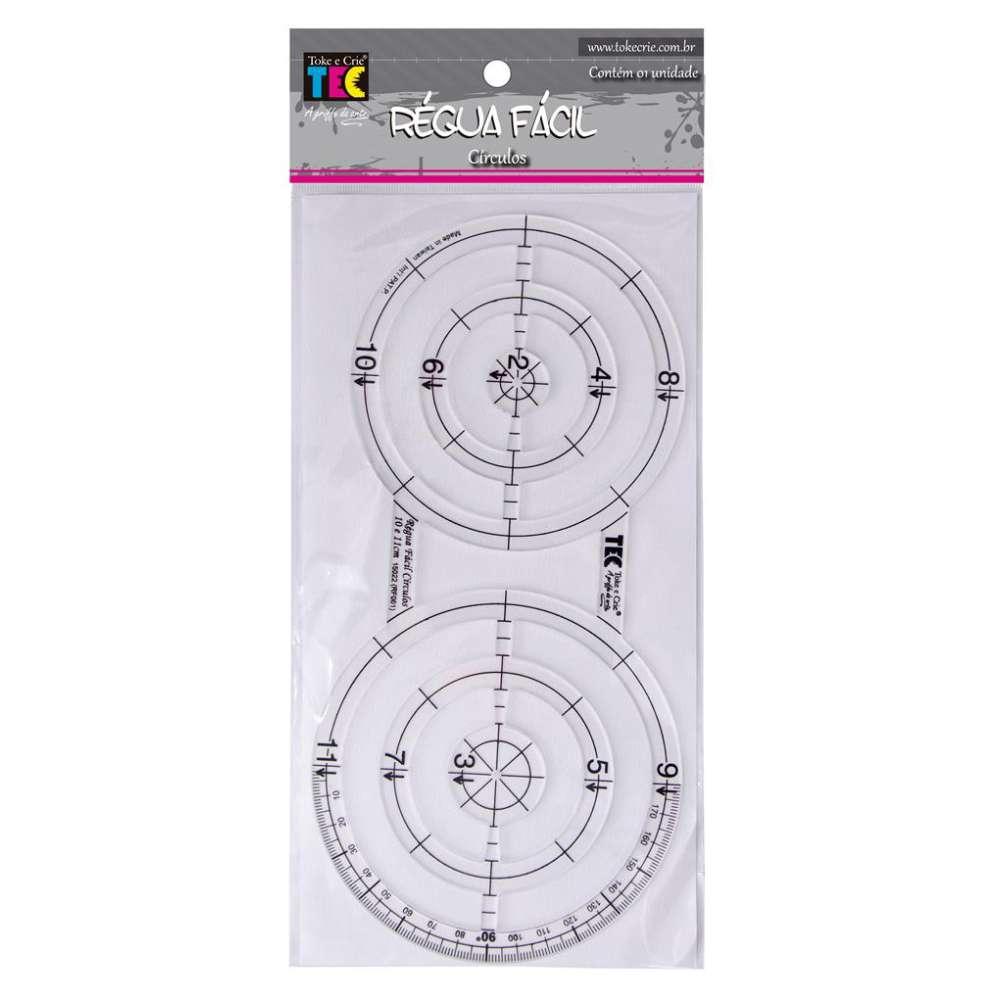Regua Facil Circulos 10 E 11 Cm