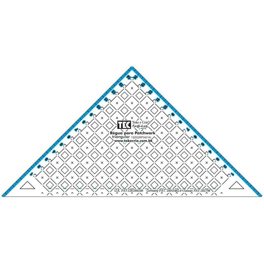 Regua Para Patchwork Triangular