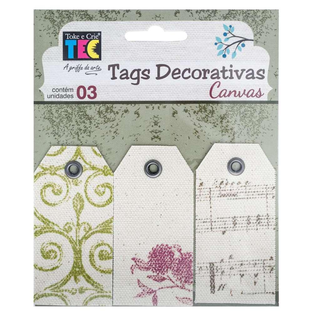 Tags Decorativas Canvas Classico