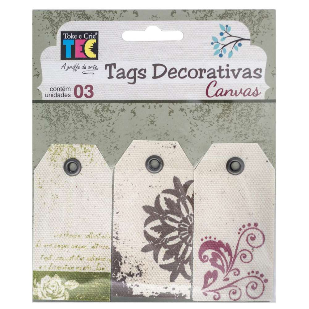 TAGS DECORATIVAS CANVAS FLORAL