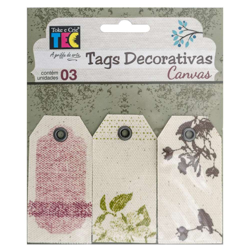 TAGS DECORATIVAS CANVAS NATUREZA