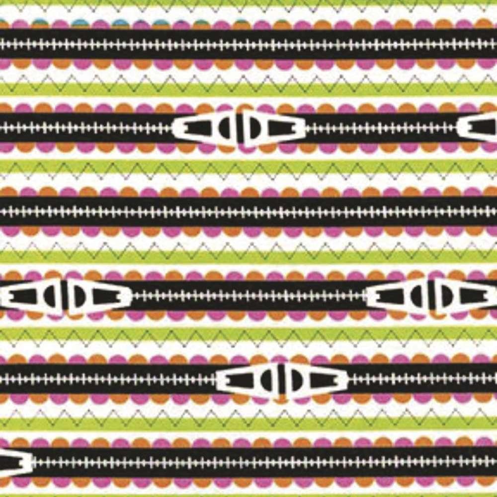 Tecido Costura Divertida Zipper Rolo C/5 Metros