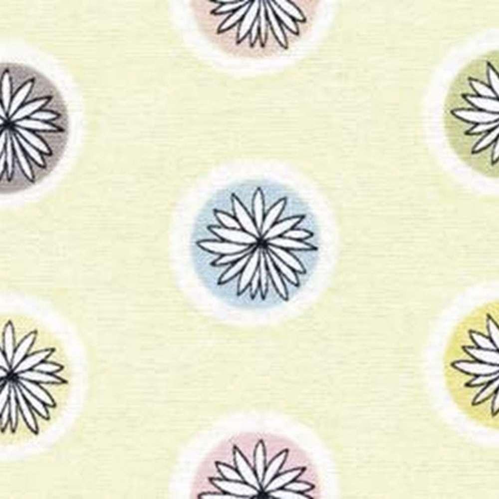 Tecido Floral Tropical Bolinhas Rolo C/5 Metros
