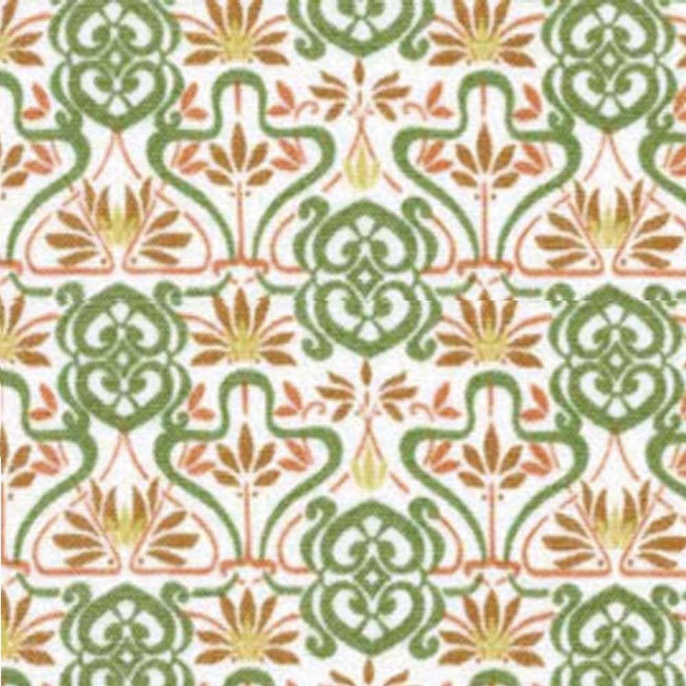 Tecido Flores Exóticas Retrô Rolo C/5 Metros