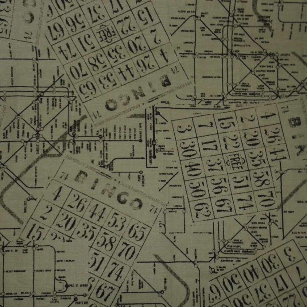 Tecido Passeio Vintage Bingo Rolo C/5 Metros