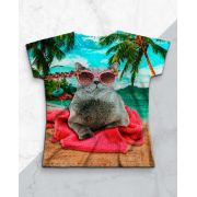 Blusa Gato na Praia