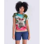 Blusa Gato na Praia Brilho