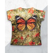 Blusa + Máscara Borbo e Orquídeas