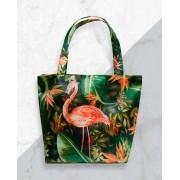 Bolsa Flamingo Folhagens