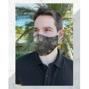 Máscara Anatômica Camuflada Cinza