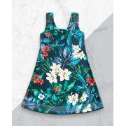 Vestido Barra Arrastão Jardim Azul