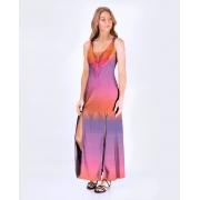 Vestido Fenda Araras Tie Dye