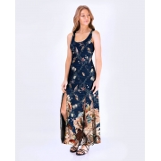 Vestido Fenda Conchas