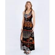 Vestido Fenda Dark Tribal