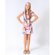 Vestido Infantil dec V Jardim Borboletas