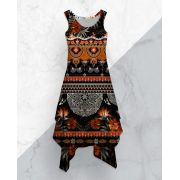 Vestido Midi Dark Tribal