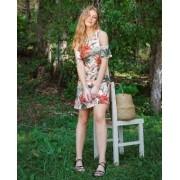 Vestido Ombro Floral Texturizado