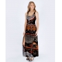 Vestido Fenda Dark Tribal