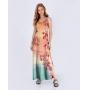 Vestido Longo Flores Tie Dye Det Arrastão
