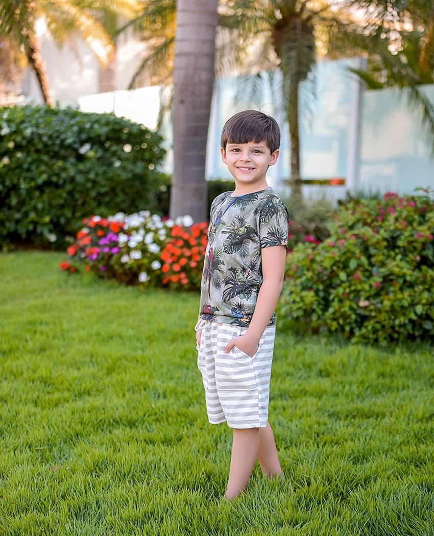 Bermuda Infantil EcoTêxtil Natural