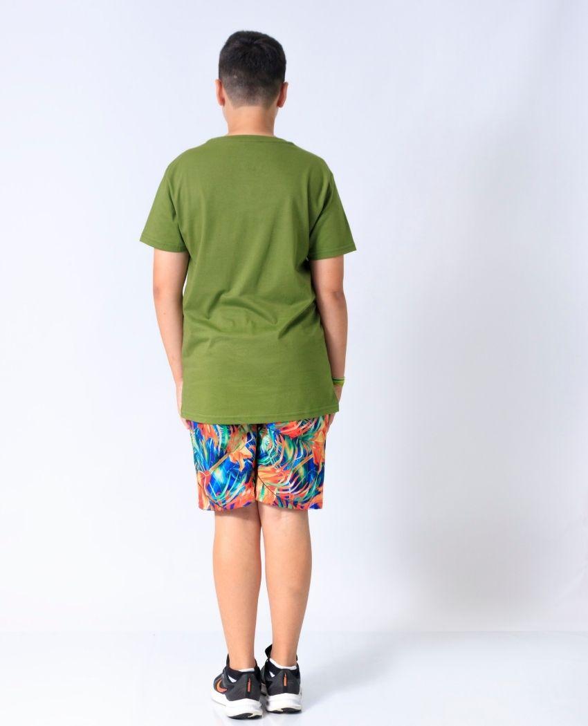 T-Shirt Alg Orgânico Arara Folhinhas