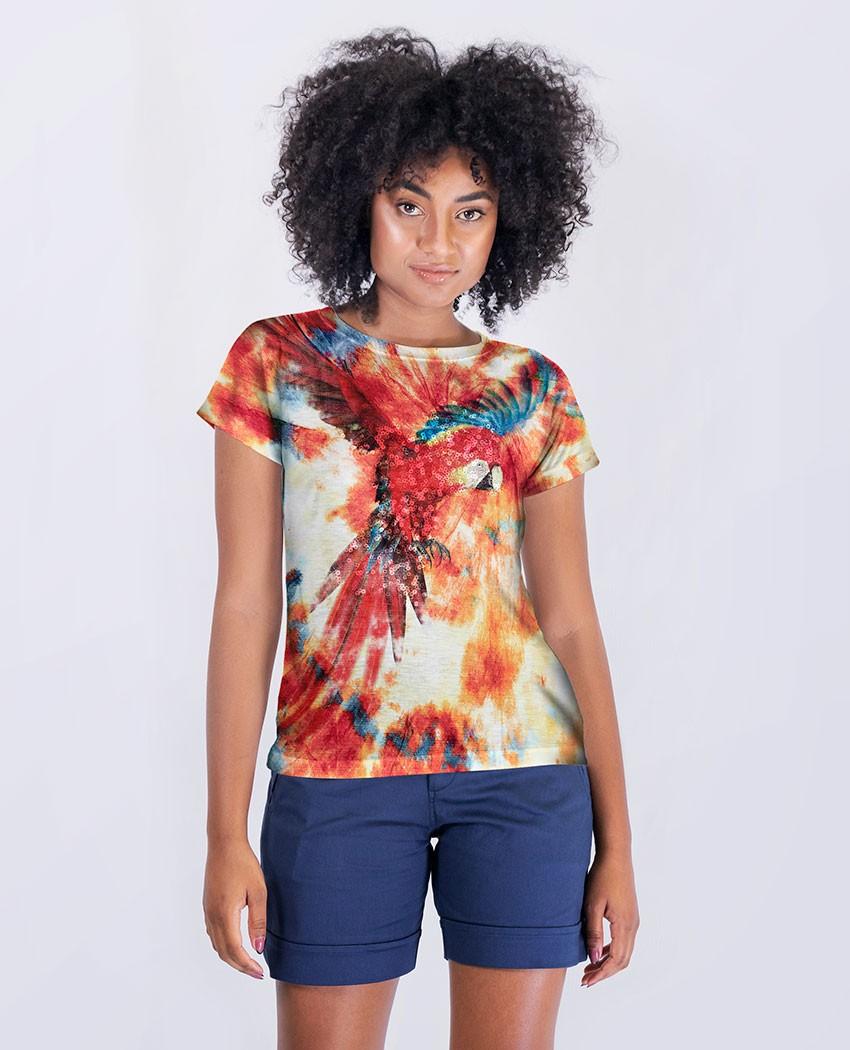 Blusa Arara Vermelha Tie Dye