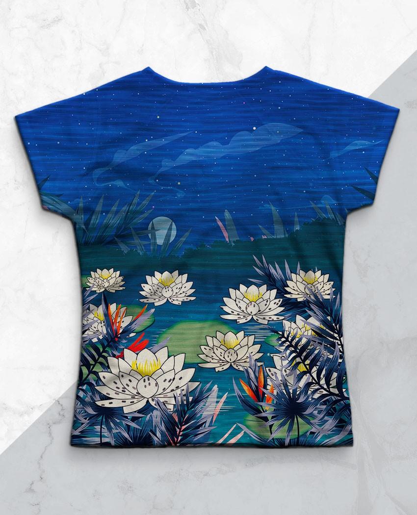 Blusa Azul Profundo Brilho