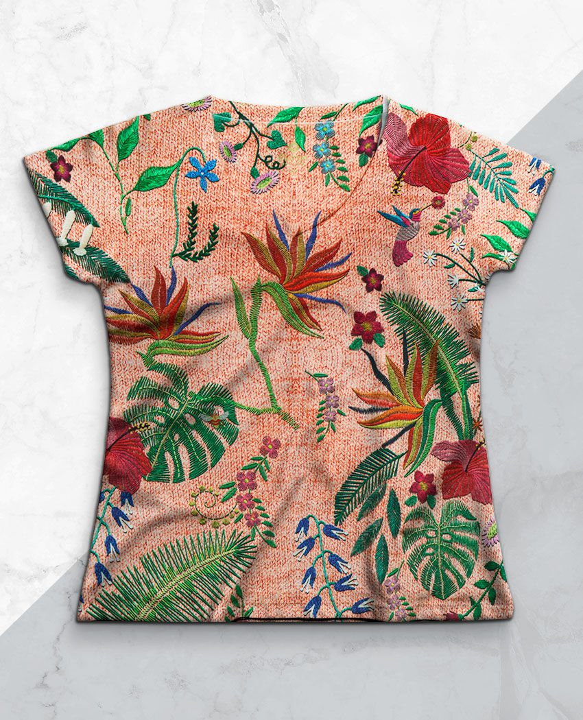 Blusa Floresta Bordada Dec V