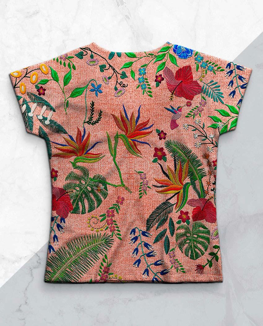 Blusa Bordando Flores e Tucano