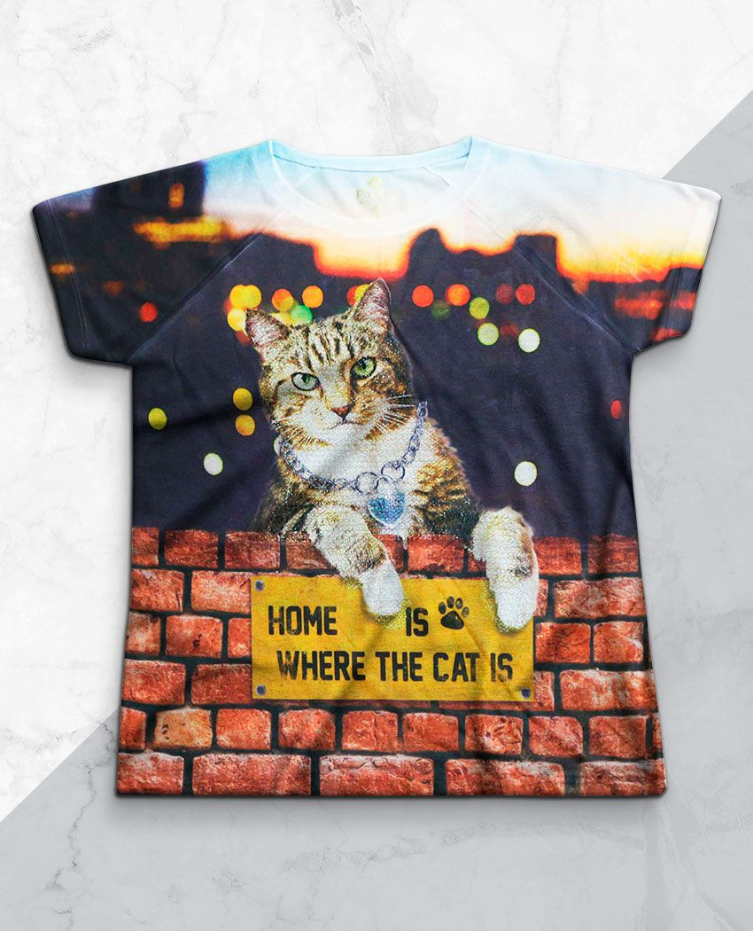 Blusa Home Is Where the Cat is