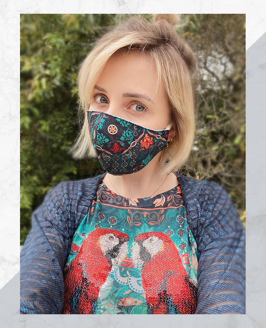 Blusa + Máscara Araras Mandala