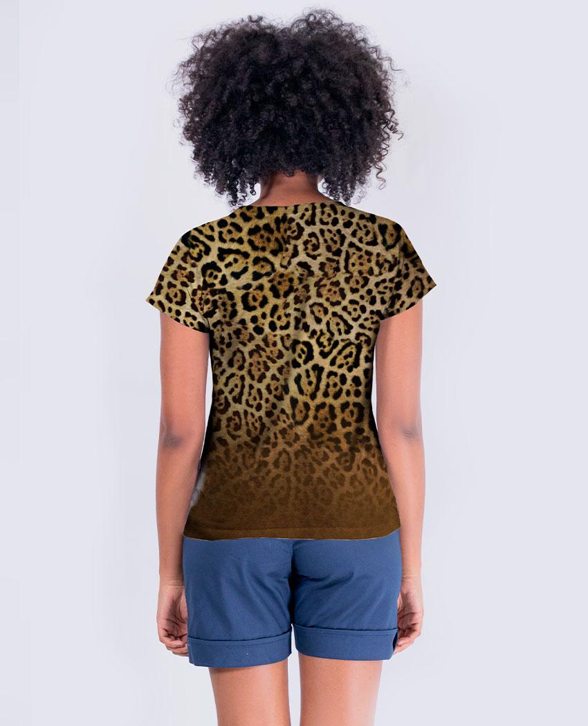 Blusa Onça Pattern Brilho