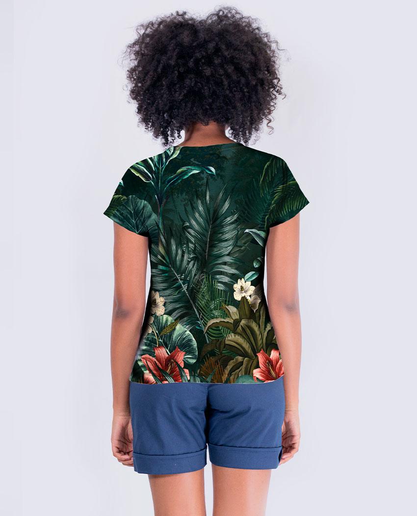 Blusa Onça Selva Brilho