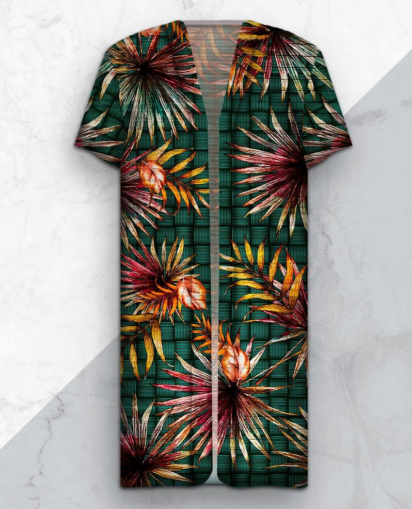 Kimono Longo Fundo Palha