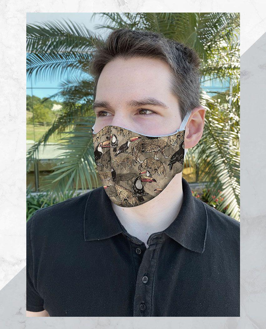Máscara Anatômica Arara e Tucano