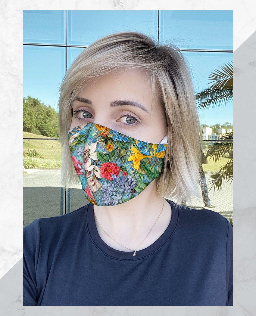 Máscara Anatômica Encontro Flores