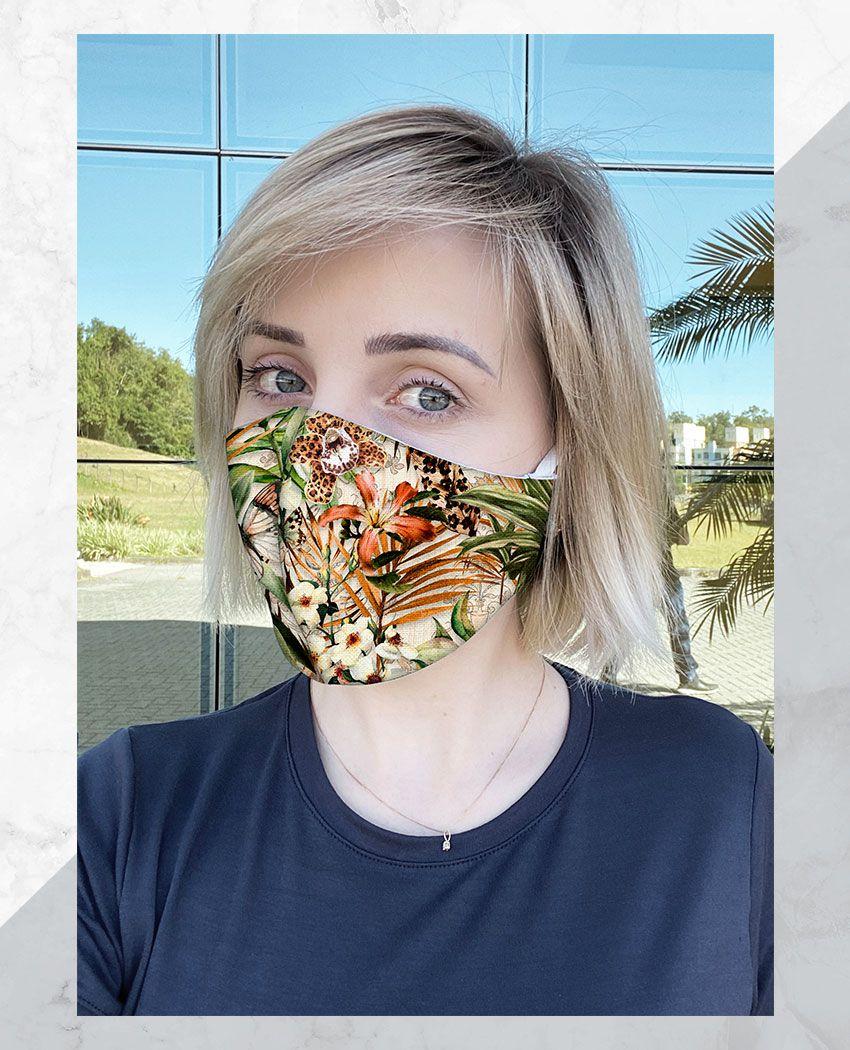 Máscara Anatômica Flores