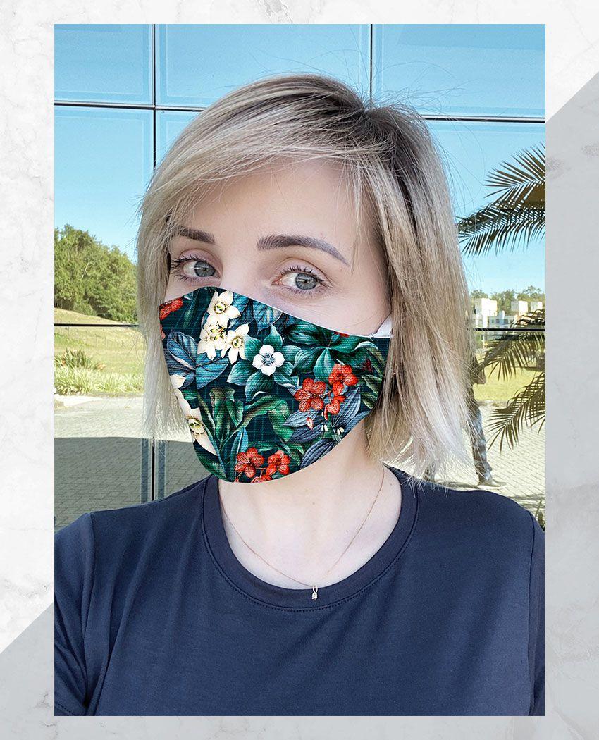 Máscara Anatômica Flowers