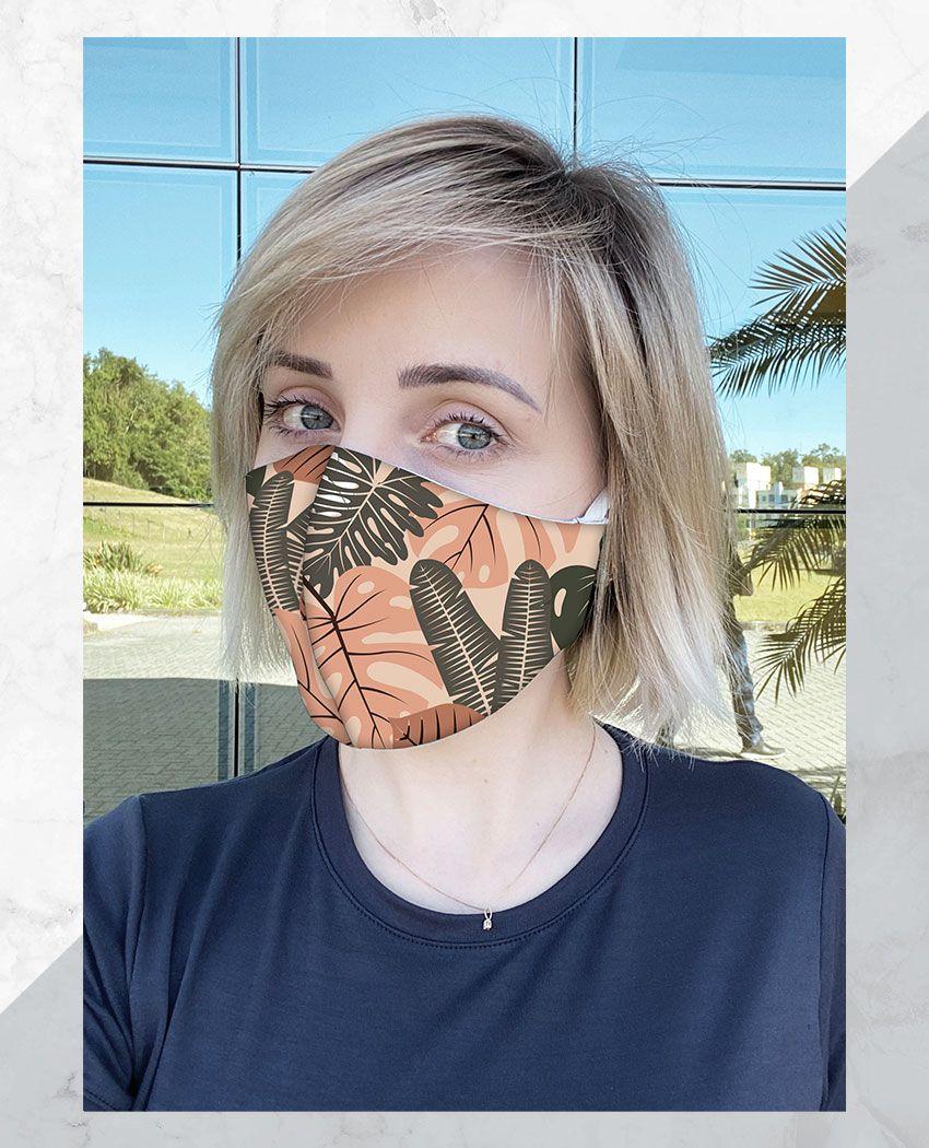Máscara Anatômica Folhas Argila