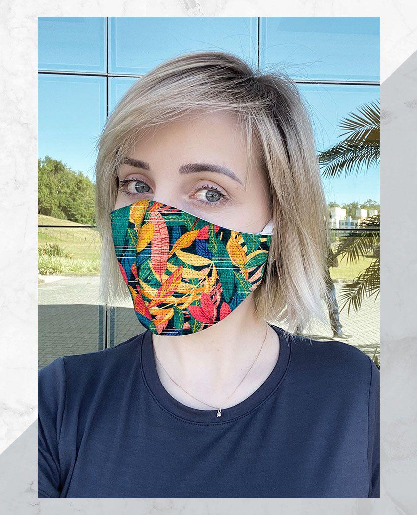 Máscara Anatômica Folhas Color