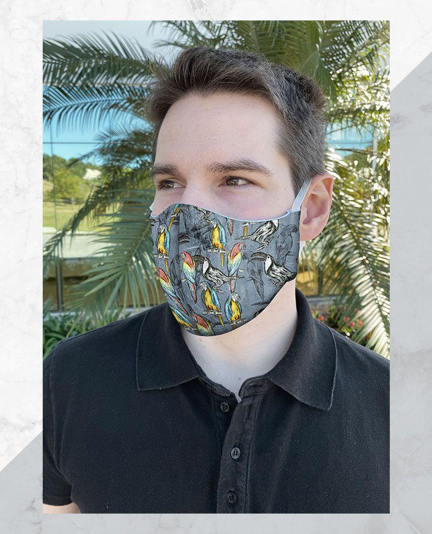 Máscara Anatômica Pássaros