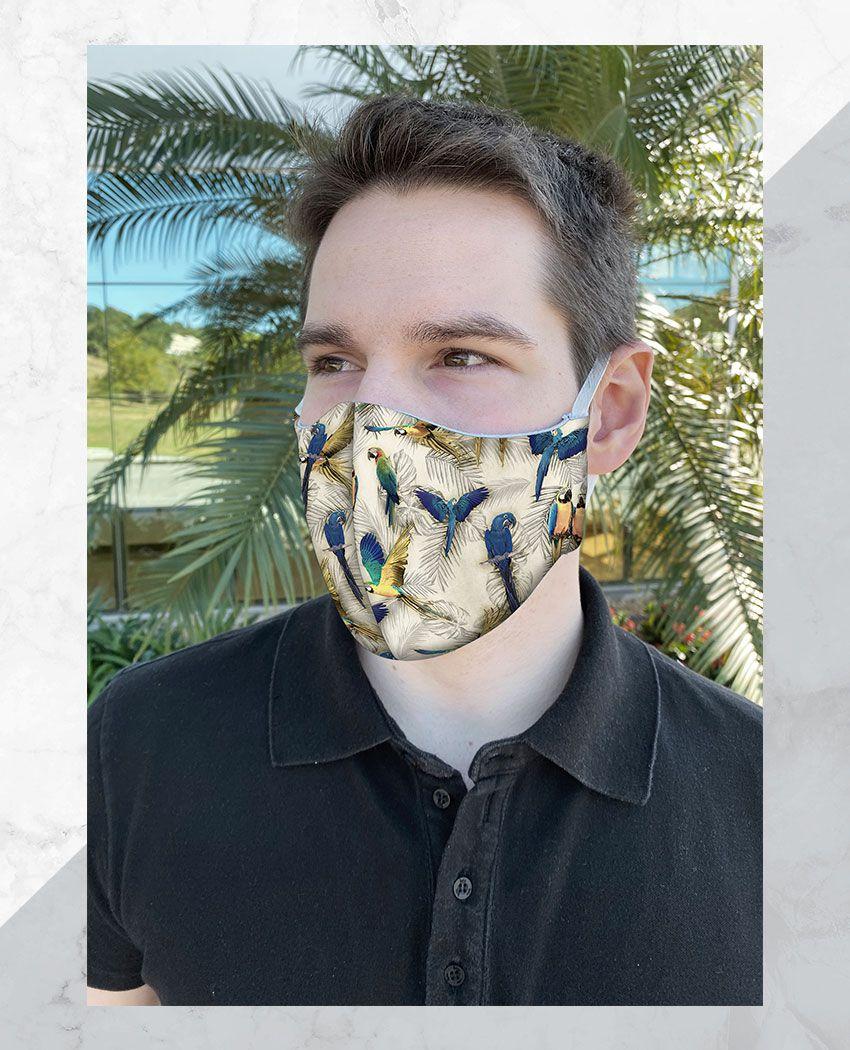 Máscara Anatômica Pattern Araras