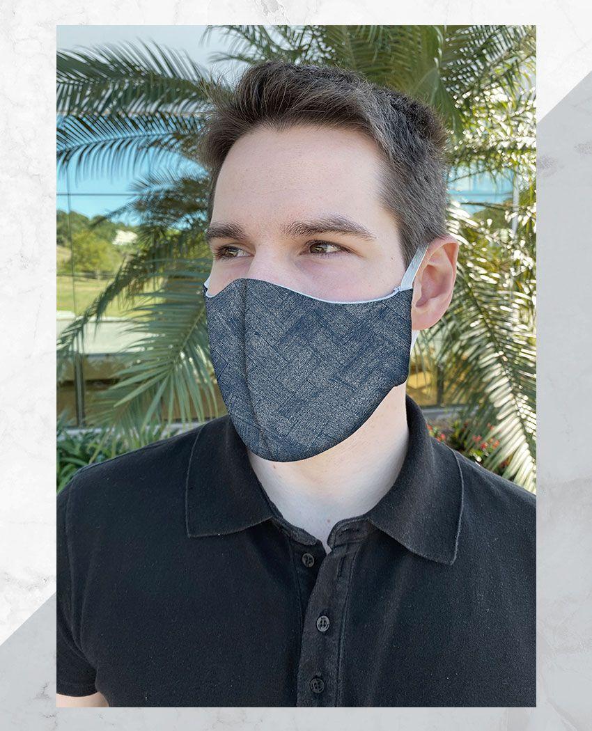 Máscara Anatômica Textura Azul