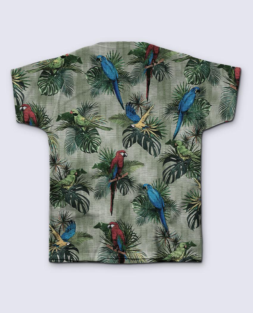 T-Shirt Araras e Folhagens